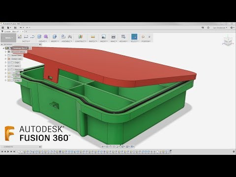 Hinges & Plastic Latch — Fusion 360 Tutorial — #LarsLive 141