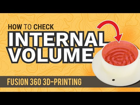 Find Internal Volume in Fusion 360 | Do This before 3D-Printing