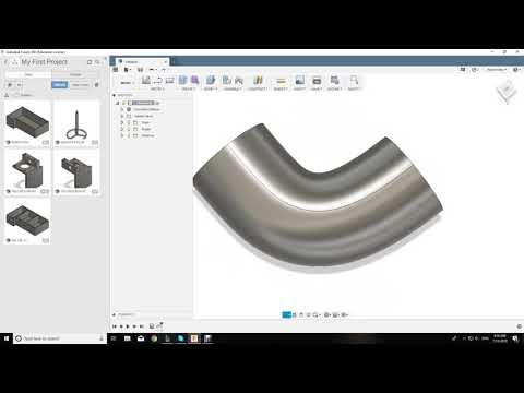 Creating a bent pipe in Fusion 360