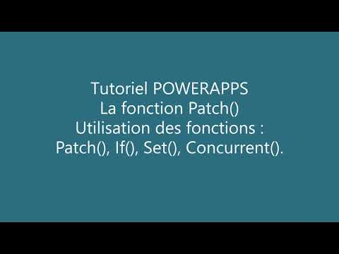 PowerApps - Formule Patch()