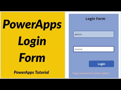 How to Create PowerApps Login Form