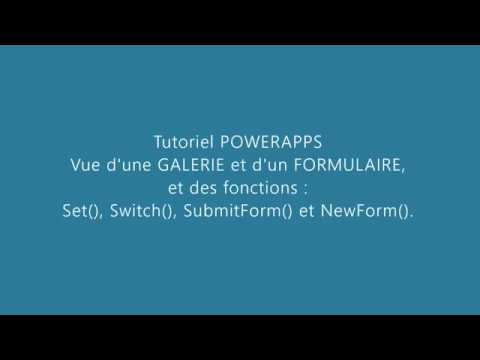 PowerApps - Galerie/Formulaire