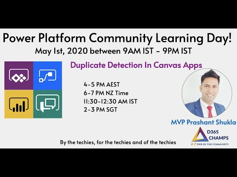 Duplicate Detection In Canvas Apps- Power Platform Community Learning Day (1st May 2020)
