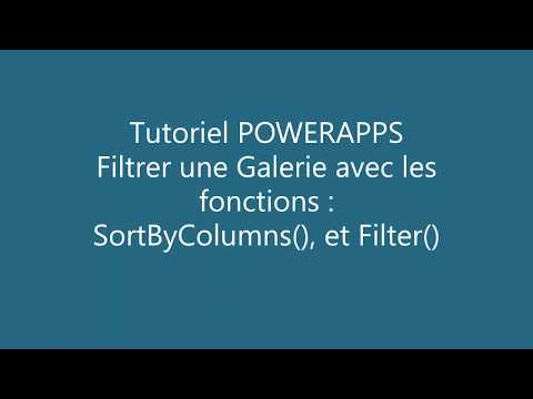 PowerApps - Filtre