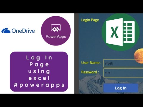 Create Login page in powerapps | Login page | powerapps | Excel | onedrive